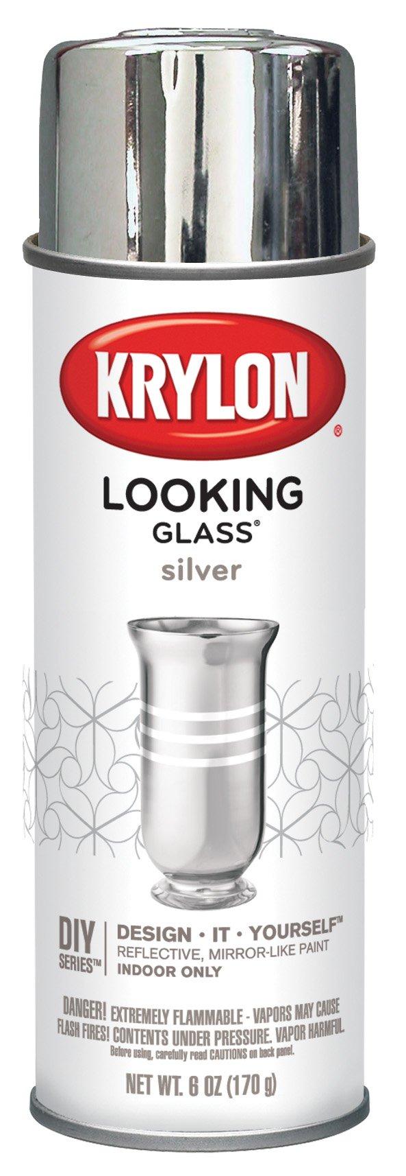 krylon looking glass mirror like aerosol spray paint k09033000 6 oz. Black Bedroom Furniture Sets. Home Design Ideas