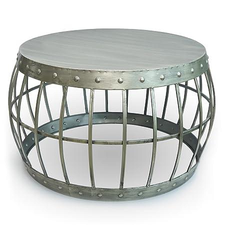 Tisch MODERN VINTAGE | Couchtisch Beistelltisch Metall hell-gold | silber | extravaganter Design-Tisch