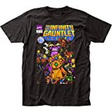 Thanos - Mens The Infinity Gauntlet Fitted T-Shirt, Size: X-Large, Color: Black (Color: Black, Tamaño: X-Large)