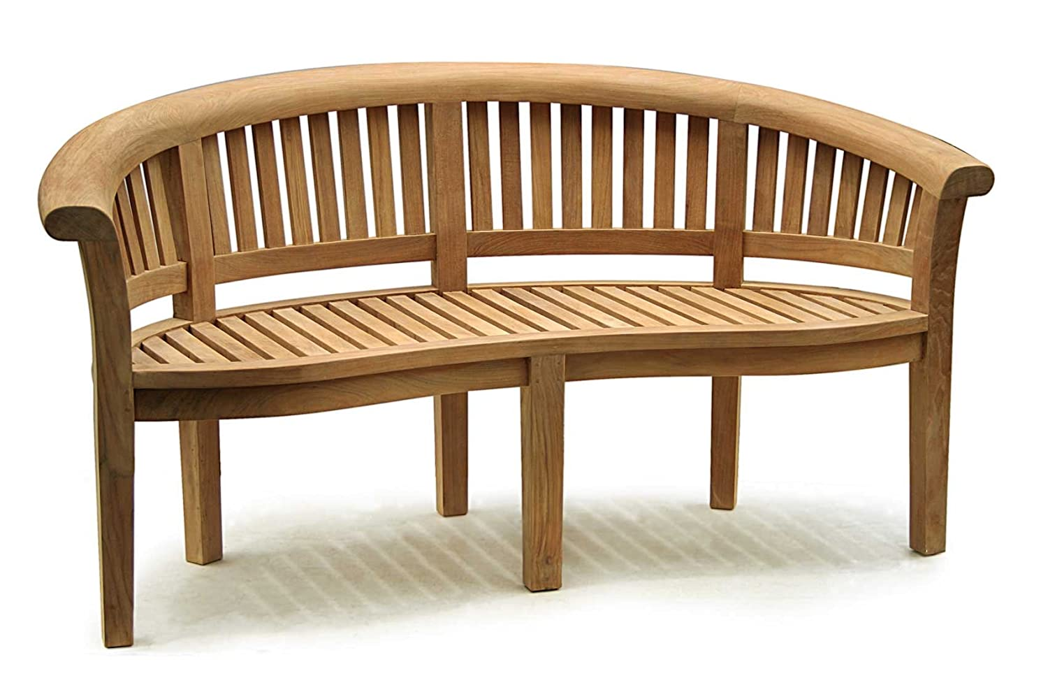 Curved Wooden Bench Images