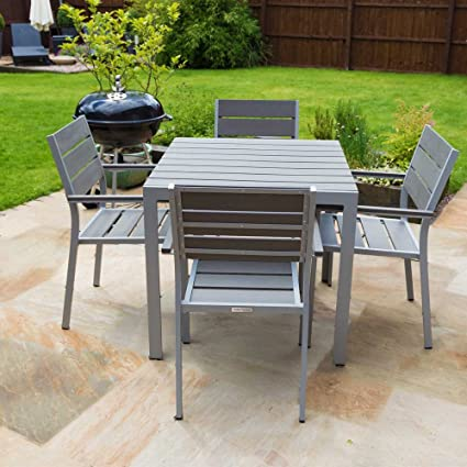 Outdoor Furniture Polywood Dining Table Set - 4 seater