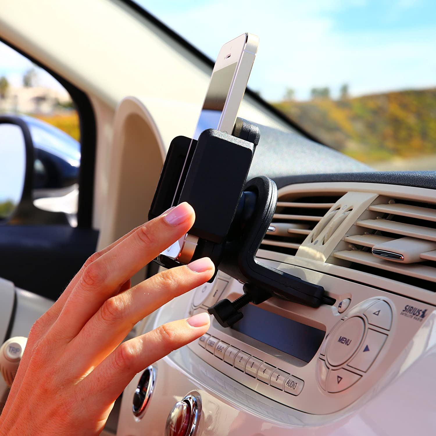 cell phone holder for car cd player