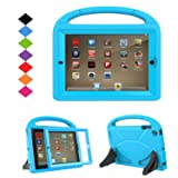 TIRIN Kids Case for iPad 2 3 4 with Built in Screen Protector - Shock Proof Convertible Handle Light Weight Durable EVA Protective Stand Cover for iPad 2nd 3rd 4th Generation, Blue (Color: Blue)