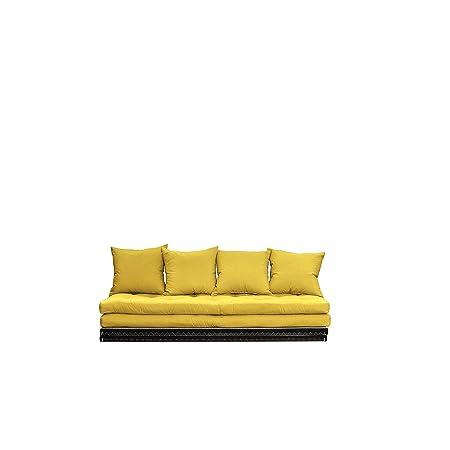 KARUP CHICO745748 Chico Schlafsofa, Stoff, amarillo, 35 x 200 x 80 cm
