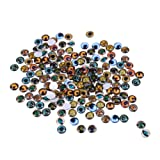 Mixed Color Lucky Evil Eye Glass Flatback Scrapbooking Dome Cabochons 10mm Dragon Eyes Accessory for Jewelry Pendant Settings 200PCS (Color: multi, Tamaño: 10 mm)