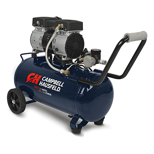 Campbell Hausfeld Portable Quiet Air Compressor, 8 Gallon (DC080500) (Tamaño: 8 Gallon)