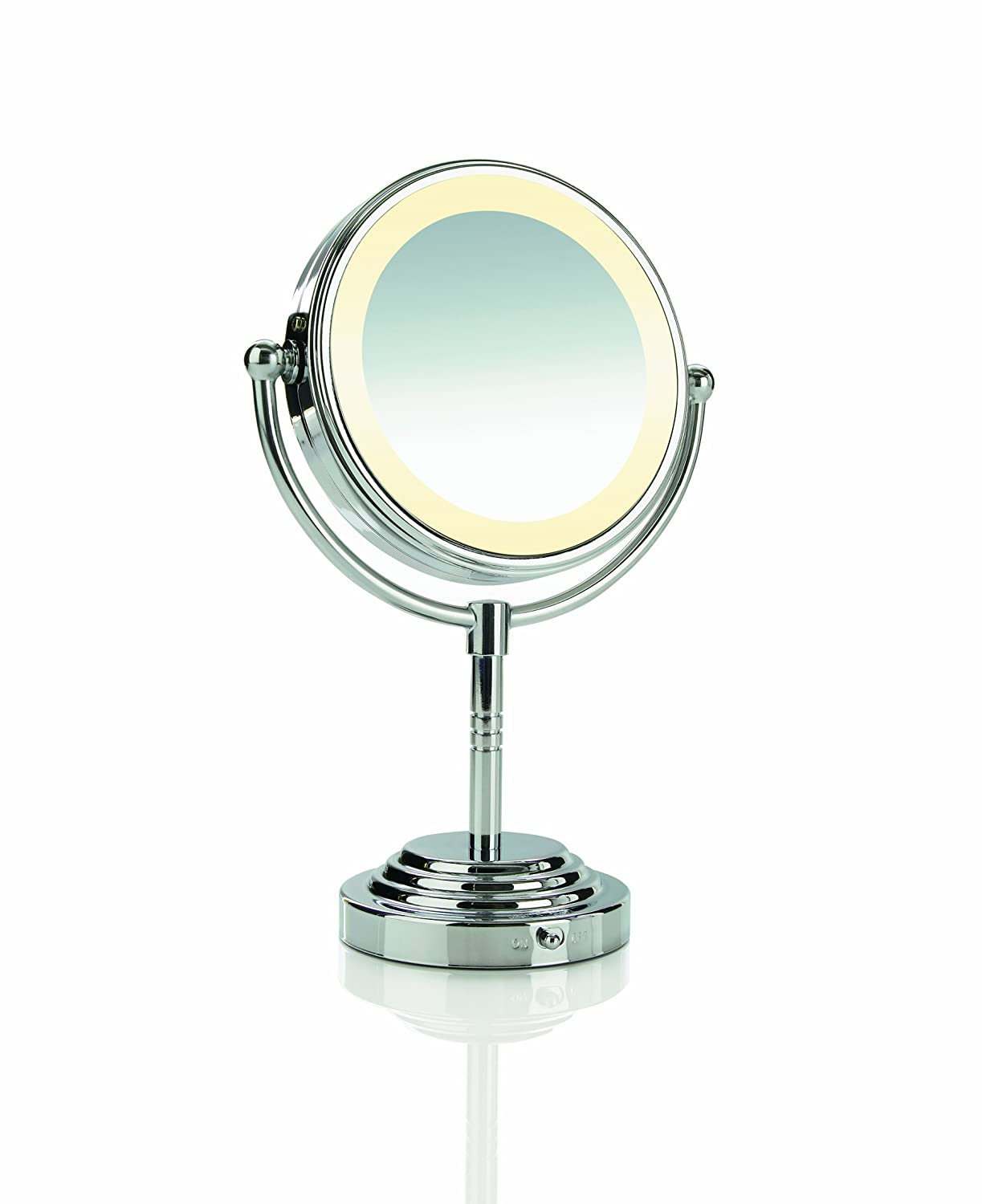 Double Sided Battery Operated Lighted Makeup Mirror 20w