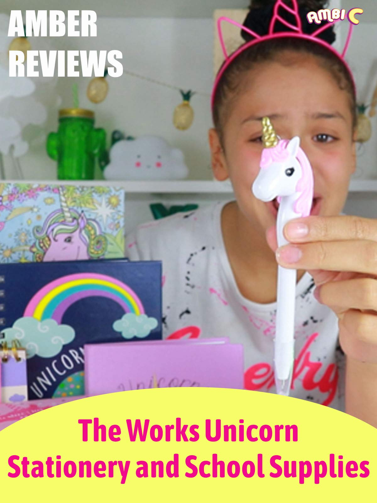 Amber Reviews The Works Unicorn Stationery and School Supplies