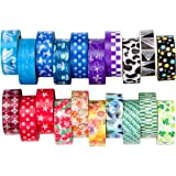Washi Tape Rainbow Set of 20 Rolls, Decorative Masking Tape Collection for DIY and Gift Wrapping by United Tapes (Color: Assorted Colors/Rainbow)