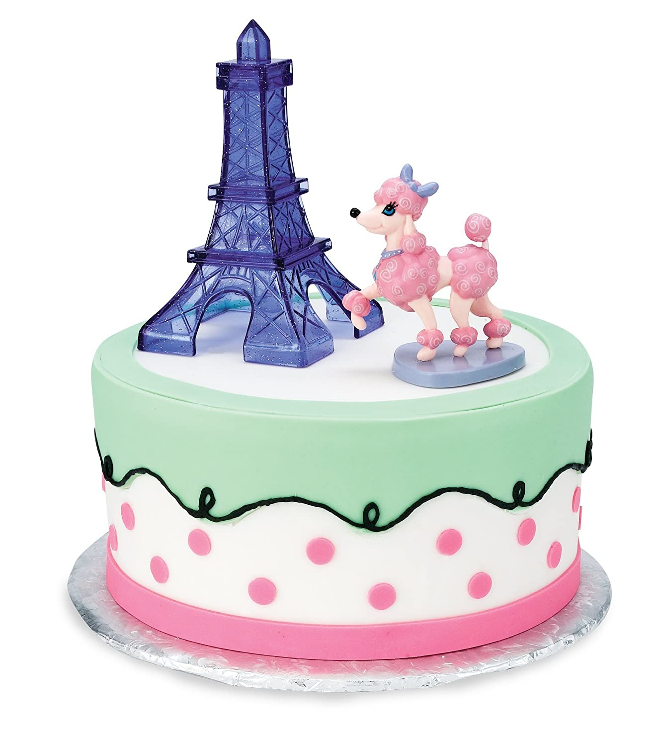 Pink Poodle Cake Topper
