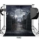 SJOLOON 10ftX10ft Halloween Backdrop Vinyl Photo Background Photography Backdrop Moon Night Backdrop Studio Prop JLT-9382 (Color: 9382 10x10, Tamaño: 10x10FT)