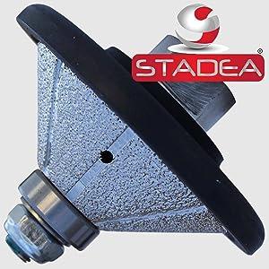 STADEA Diamond Profile Wheel / Profile Grinding Wheel 45 degree / Bevel 25 MM 1 high for Grinder Polisher Tile Granite marble Concrete Shaping/Diamond Profiling (Color: Arbor 5/8 11, Tamaño: 25MM - 1)