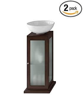 Ronbow 033615-H01_Kit_2 Solis Bathroom Vanity Set in Dark Cherry with White Ceramic Vessel, 15""