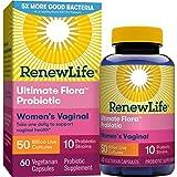 Renew Life Women's Probiotic - Ultimate Flora Probiotic Women's Care, Shelf Stable Probiotic Supplement - 50 Billion - 60 Vegetable Capsules (Packaging May Vary) (Tamaño: 60 Count)