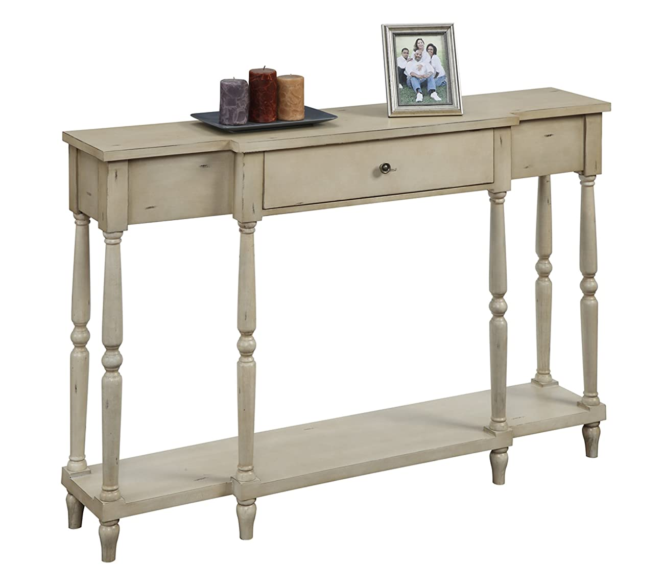 Convenience Concepts Wyoming Antique Console, Antique Ivory 1