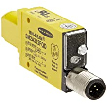 Banner SM2A312FQD Mini Beam AC Photoelectric Sensor, Infrared LED, Glass Fiber Mode,  Range