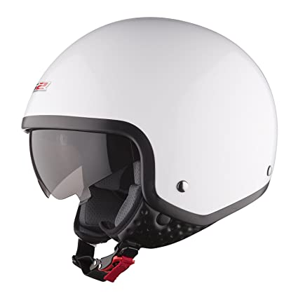 LS2 Casque de moto blanc Of561 vague Gloss