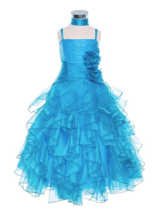 10-Colors-Ruffled-Pageant-Party-Holiday-Communion-Flower-Girl-Long-Dress