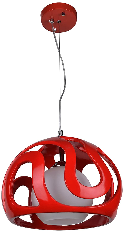 Lampex 325/1 CZE Hängeleuchte Akiba, rot