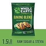 WHOLE EARTH SWEETENER Baking Blend, Granular Raw Sugar and Organic Stevia Baking Blend, Baking Sugar and Baking Stevia Mix, 1.5 Pound Pouch (Tamaño: 1.5 Pound Bag)