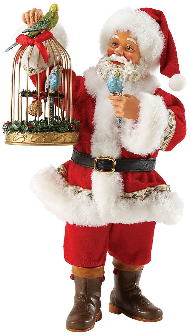Department 56 Possible Dreams Santas Budgie Holiday Santa, 10-Inch