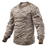 Rothco Long Sleeve T-Shirt, Desert Digital, Small