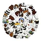 42pcs We Bare Bears Cartoon Anime Stickers Laptop Computer Bedroom Wardrobe Car Skateboard Motorcycle Bicycle Mobile Phone Luggage Guitar DIY Decal (We Bare Bears 42) (Color: We Bare Bears 42)