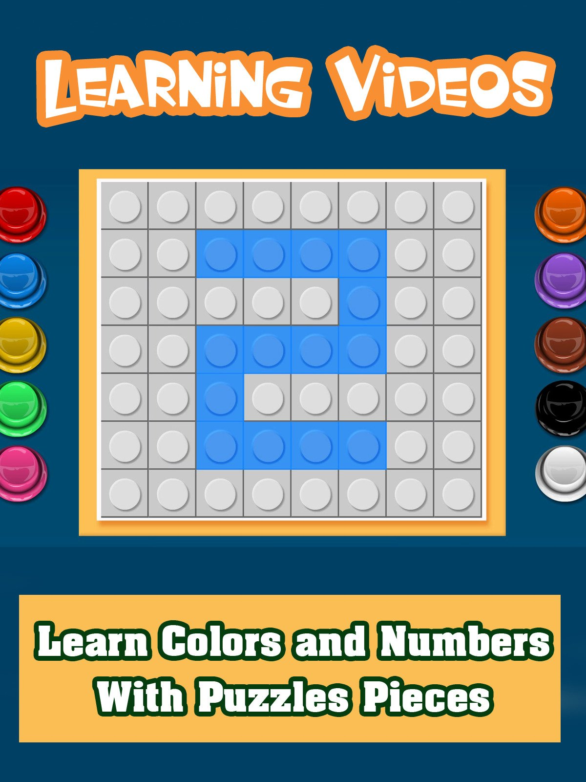Learn Colors and Numbers With Puzzles Pieces