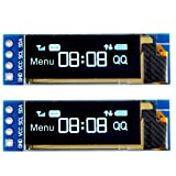 MakerFocus 2pcs I2C OLED Display Module 0.91 Inch I2C SSD1306 OLED Display Module Blue I2C OLED Screen Driver DC 3.3V~5V for Arduino