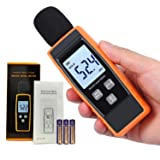 Digital Decibel Meter | Sound Level Tester | Noise dB Loudness Reader | Momenturn (Color: Yellow)