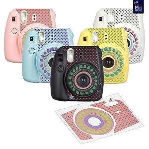 Fujifilm Instax Mini 9 Instant Kids Camera Flamingo Pink with Custom Case + Fuji Instax Film Value Pack (40 Sheets) Accessories Bundle, Color Filters, Photo Album, Assorted Frames, Selfie Lens + More (Color: FLAMINGO PINK)