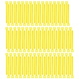 Pasow 100pcs Reusable Fastening Cable Ties Adjustable Wire Management (7 Inch, Yellow) (Color: Yellow, Tamaño: 7 Inch)