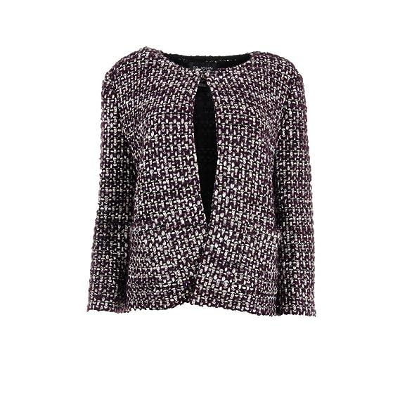 St John Womens Wool Blend Tweed Jacket