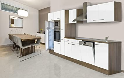 Respekta Kitchen Unit Empty Kitchen/Empty Units/370 cm/Oak York Grey