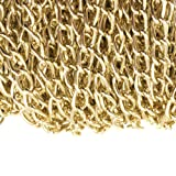 WUBOECE Dcatcher Aluminum Curb Chain Link in Bulk for Necklace Jewelry Accessories DIY Making 11 Yards 4.5mm Width, KC Gold (Color: Kc Gold, Tamaño: 4.5mm width)
