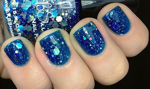 Nail Polish Blues Blue Glitter Nail Polish