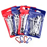 SPEEDWOX Mini Handle Wrench Set Metric SAE Ignition Wrench Set Open End and Box End Mini Size Portable Standard Combination Wrench Spanner Necessary Repair Tools for Assembling Furniture (Color: Open/Box, Tamaño: 4 set wrench)