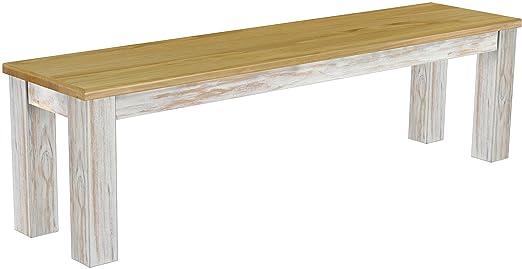 Brasil Möbel panca 'Rio classico' 160 cm, in legno massello di pino, tonalità Shabby LH - Brasil