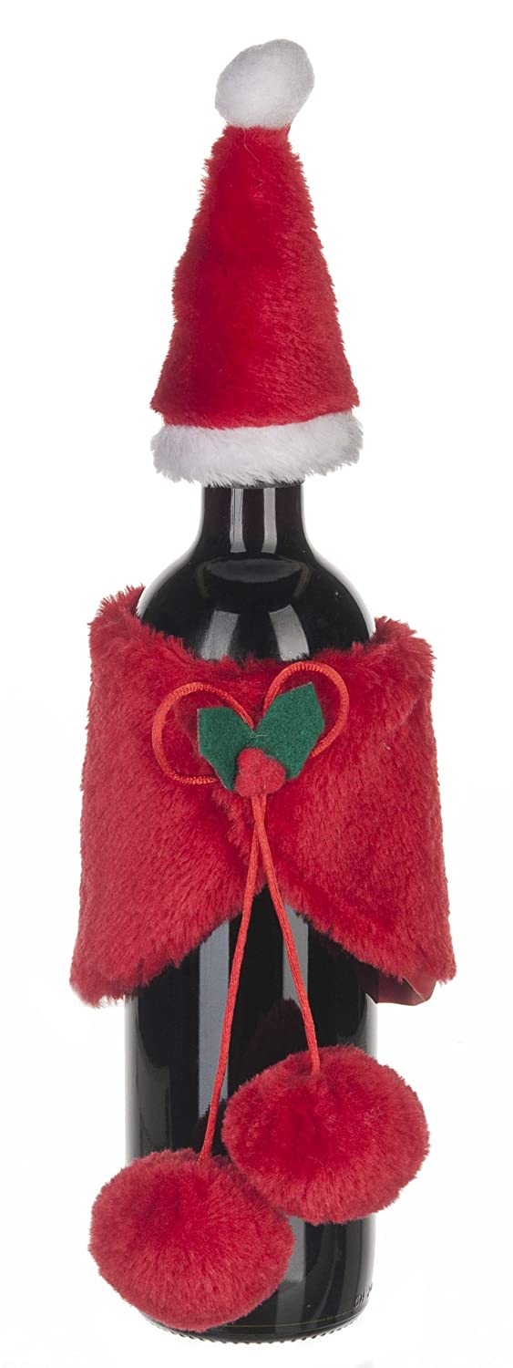 Ganz Santa Wine Bottle Cover and Hat