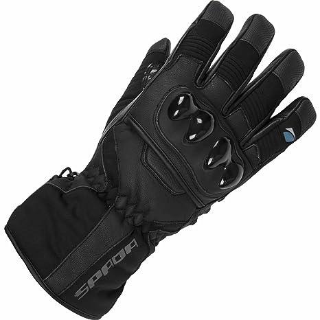 Gants en cuir de moto Spada ombre WP noir