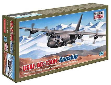 Minicraft MCR14537 AC-130H Hercules Gunship 1:144 Plastic Kit Maquette