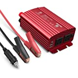 BESTEK 500W Power Inverter DC 12V to 110V AC Converter with 4.8A Dual USB Car Charger ETL Listed (Color: Red, Tamaño: 500W)