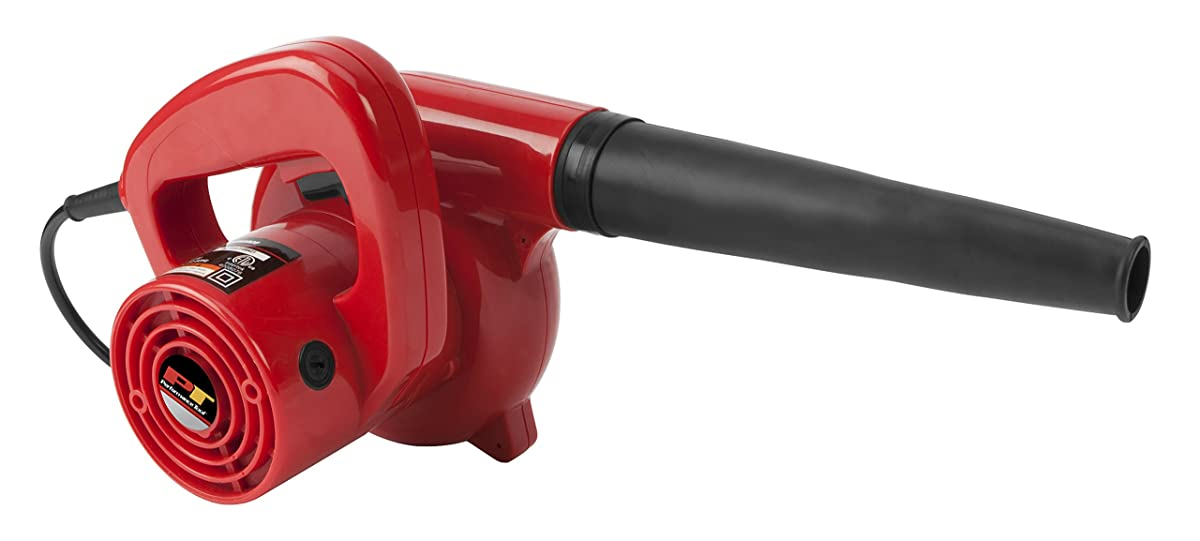 Performance Tool W50063 Compact Red 600 WattGarage/Shop/ Blower/Patio Blower (16,000 Max RPM, 75+ MPH Air Flow)