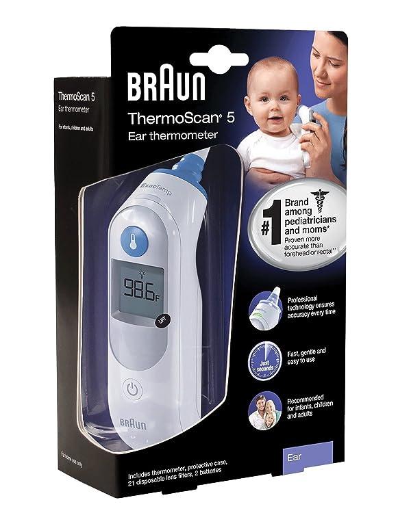Termómetro Braun de oído.