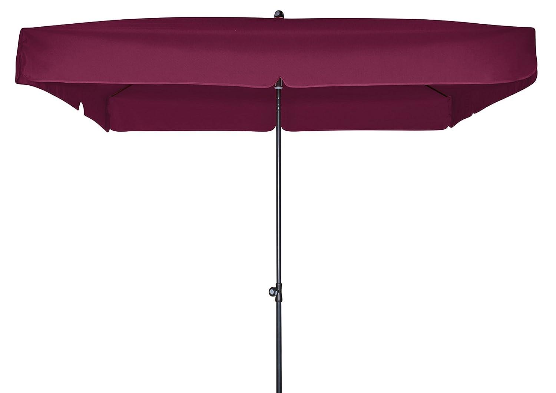 Doppler Gartenschirm Sun Line III 200×200 quadratisch mit UV-Schutz 50, Farbe brombeer kaufen