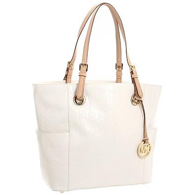 Michael Kors White Shoulder Monogram Bag 72