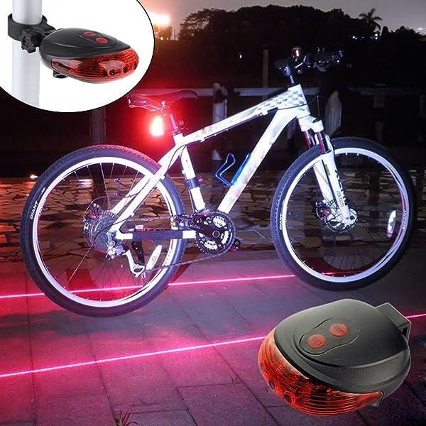 Cycling Bicycle LED Laser Tail Lamp Bike Rear Safety Flashing Warning Light Beam