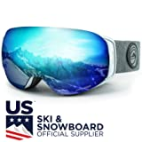 WildHorn Outfitters Roca Ski Goggles & Snowboard Goggles- Premium Snow Goggles for Men, Women and Kids. Features Quick Change Magnetic Lens System with Integrated Clip Lock