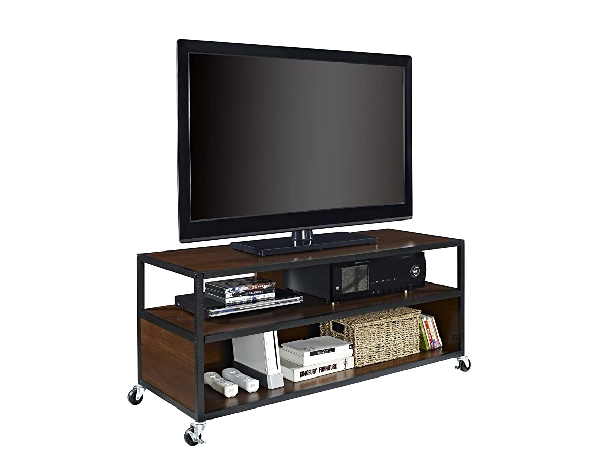 "Altra Mason Ridge Mobile 46"" TV Stand with Metal Frame, Cherry/Black"