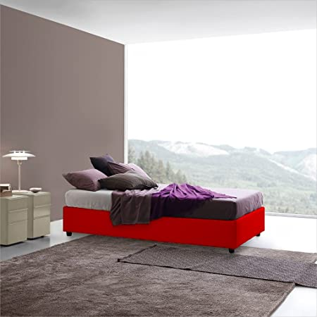 Somier Sararreda – Para camas de una plaza y media con un contenedor en su parte inferior, acolchado y con revestimiento de piel sintética.